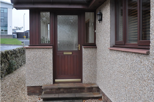 Photograph of a door installation in Newton Stewart